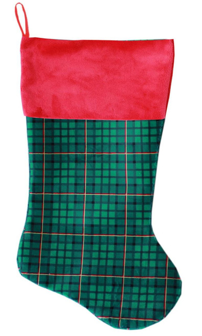 Green Plaid Christmas Stocking - 63-12 GPL