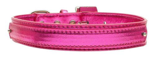 "3/4"" (18mm) Metallic Two-tier Collar  Pink Large - 18-02 LGPKM"