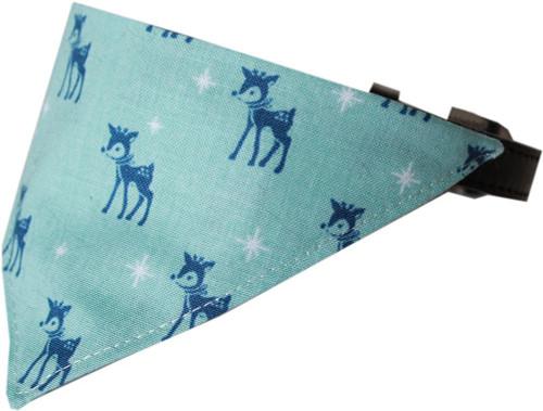 Reindeer Bandana Pet Collar Black Size 18