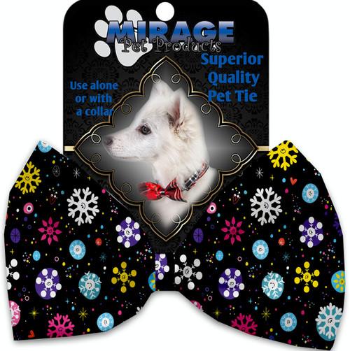 Smiley Snowflakes Pet Bow Tie