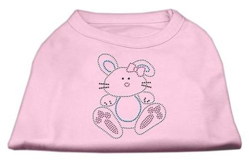 Bunny Rhinestone Dog Shirt Light Pink Med (12)