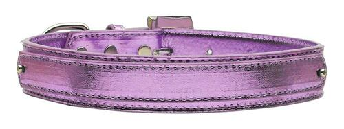 "3/4"" (18mm) Metallic Two-tier Collar  Purple Large - 18-02 LGPRM"