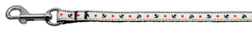 Anchors Nylon Ribbon Leash White 3/8 Wide 6ft Long