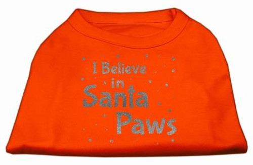 Screenprint Santa Paws Pet Shirt Orange Xs (8)