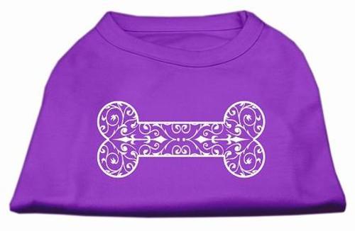 Henna Bone Screen Print Shirt Purple Xxxl (20)