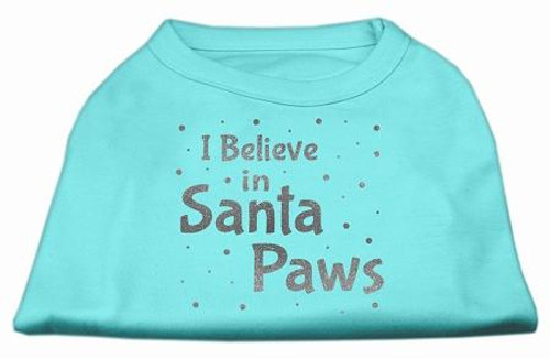 Screenprint Santa Paws Pet Shirt Aqua Xs (8)