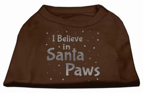 Screenprint Santa Paws Pet Shirt Brown Xs (8)