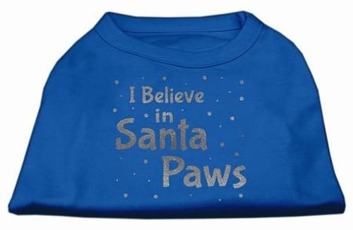 Screenprint Santa Paws Pet Shirt Blue Xs (8)