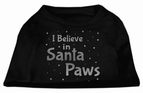 Screenprint Santa Paws Pet Shirt Black Xs (8)