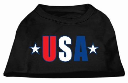 Usa Star Screen Print Shirt Black  Med (12)