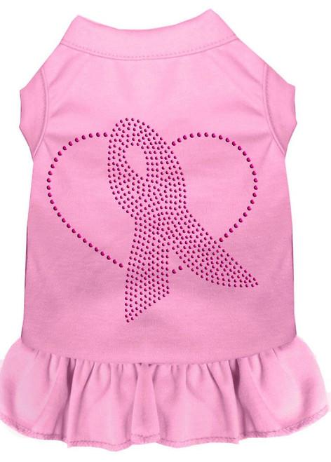 Pink Ribbon Rhinestone Dress Light Pink Lg (14)