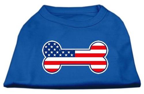 Bone Shaped American Flag Screen Print Shirts Blue Xxxl (20)