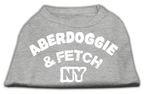 Aberdoggie Ny Screenprint Shirts Grey Lg (14) - 51-01 LGGY