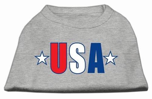 Usa Star Screen Print Shirt Grey Med (12)