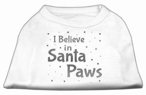 Screenprint Santa Paws Pet Shirt White Xs (8)