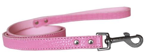 Plain Croc Leash Light Pink 3/4'' Wide X 4' Long