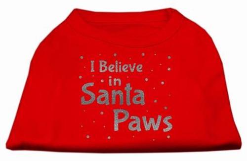 Screenprint Santa Paws Pet Shirt Red Xs (8)