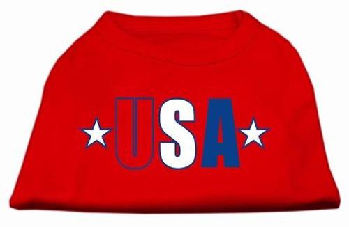 Usa Star Screen Print Shirt Red Med (12)