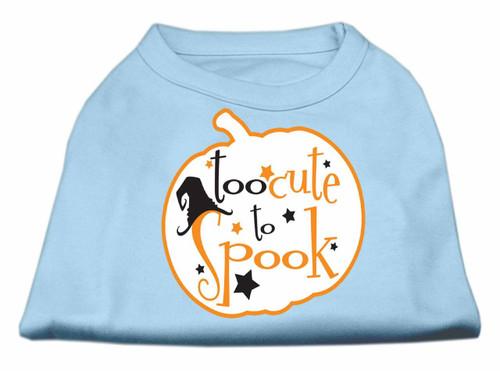 Too Cute To Spook Screen Print Dog Shirt Baby Blue Xxl (18)