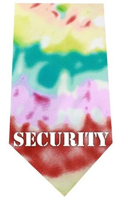 Security Screen Print Bandana Tie Dye