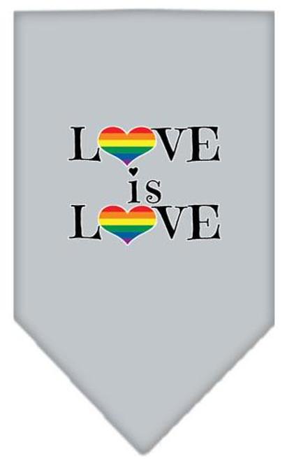 Love Is Love Screen Print Bandana Grey Small