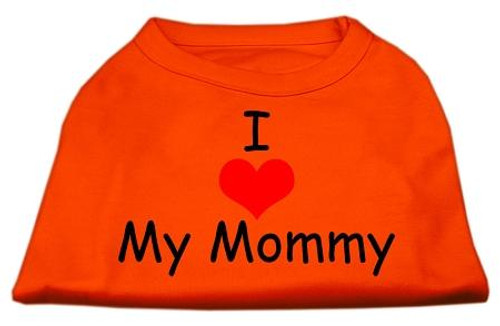 I Love My Mommy Screen Print Shirts Orange Lg (14)