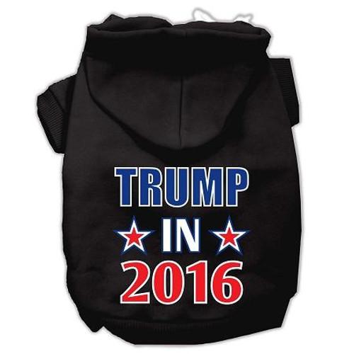Trump In 2016 Election Screenprint Pet Hoodies Black Size Xs (8)