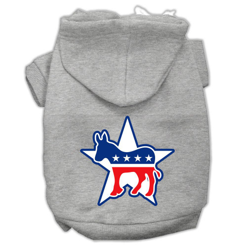 Democrat Screen Print Pet Hoodies Grey Size Xxl (18)