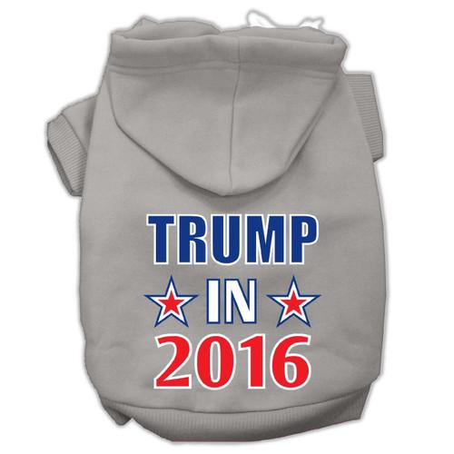 Trump In 2016 Election Screenprint Pet Hoodies Grey Size Xs (8)