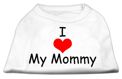 I Love My Mommy Screen Print Shirts White Lg (14) - 51-35 LGWT