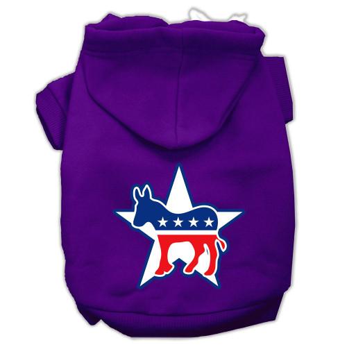 Democrat Screen Print Pet Hoodies Purple Size Xxl (18)