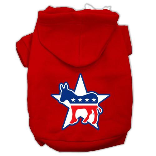 Democrat Screen Print Pet Hoodies Red Size Xxl (18)