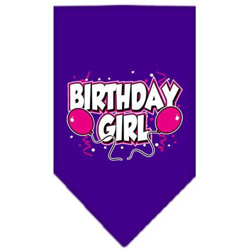 Birthday Girl Screen Print Bandana Purple Large
