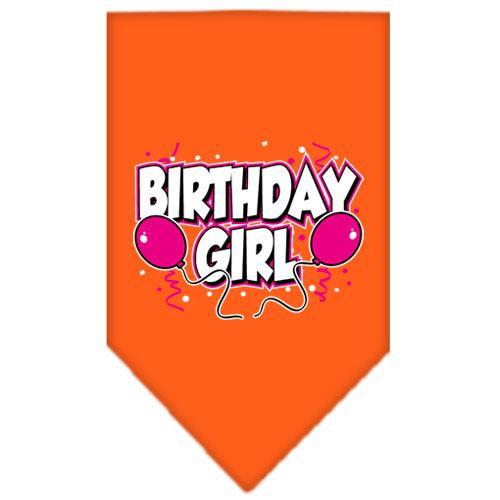 Birthday Girl Screen Print Bandana Orange Large