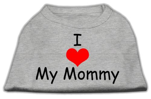 I Love My Mommy Screen Print Shirts Grey Lg (14) - 51-35 LGGY
