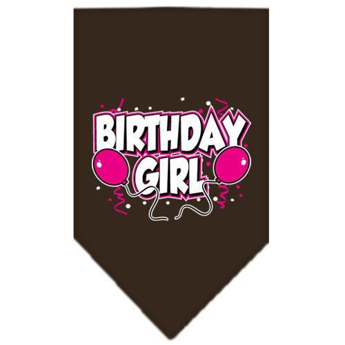 Birthday Girl Screen Print Bandana Cocoa Large