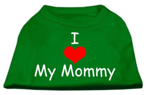 I Love My Mommy Screen Print Shirts Emerald Green Lg (14)