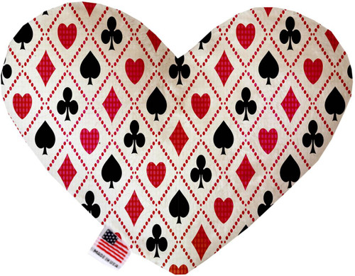 Deck Of Cards 6 Inch Heart Dog Toy