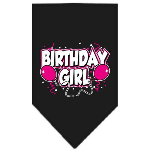 Birthday Girl Screen Print Bandana Black Large
