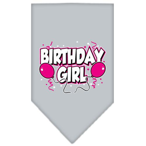 Birthday Girl Screen Print Bandana Grey Large