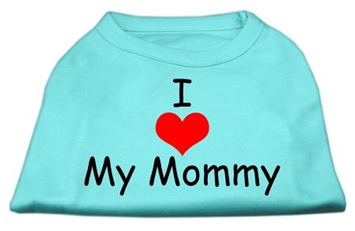 I Love My Mommy Screen Print Shirts Aqua Lg (14) - 51-35 LGAQ