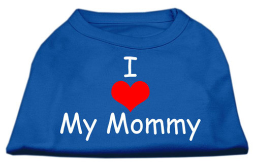 I Love My Mommy Screen Print Shirts Blue Lg (14)