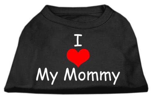 I Love My Mommy Screen Print Shirts Black  Lg (14) - 51-35 LGBK