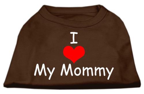 I Love My Mommy Screen Print Shirts Brown Lg (14)