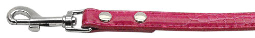 """3/8"""" (10mm) Faux Croc Two Tier Collars Pink 1/2"""" Leash - 10-01 12LdPkC"""