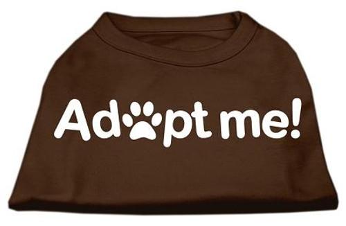 Adopt Me Screen Print Shirt Brown Lg (14)