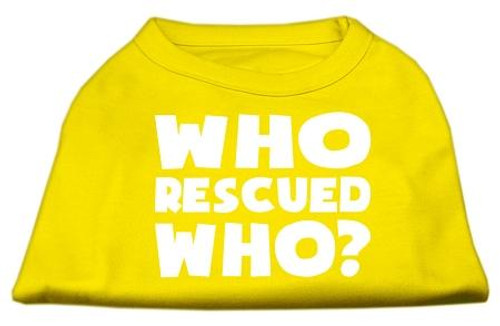 Who Rescued Who Screen Print Shirt Yellow Sm (10)