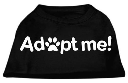 Adopt Me Screen Print Shirt Black  Lg (14)