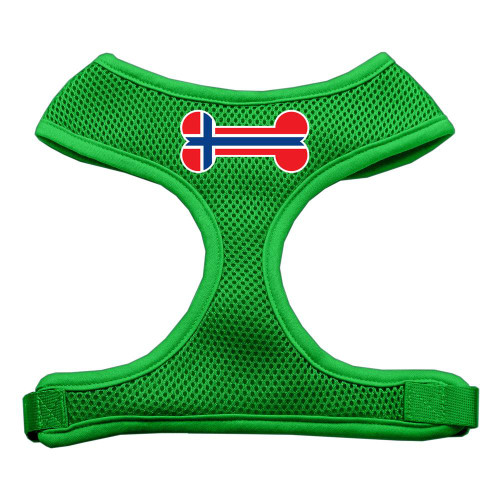Bone Flag Norway Screen Print Soft Mesh Harness Emerald Green Large