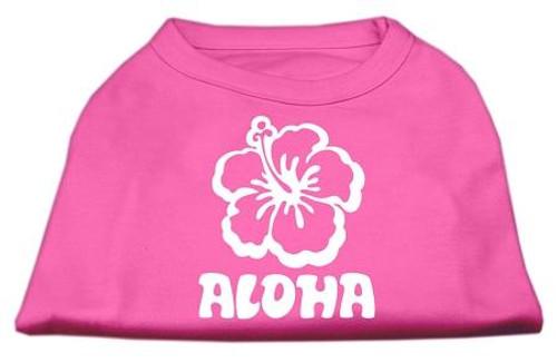 Aloha Flower Screen Print Shirt Bright Pink Med (12)